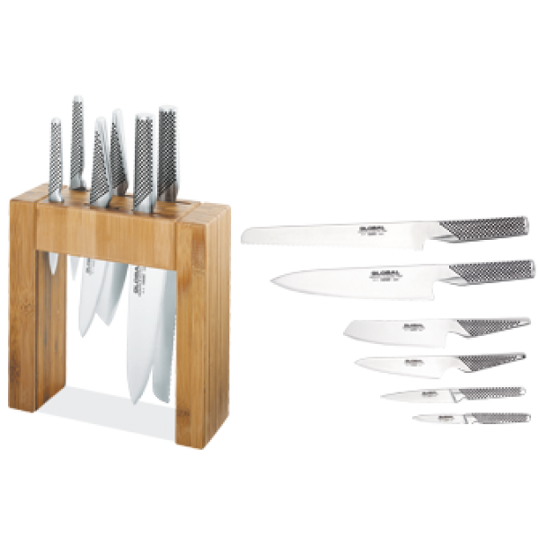 Global Ikasu Knife Block Set 7pc