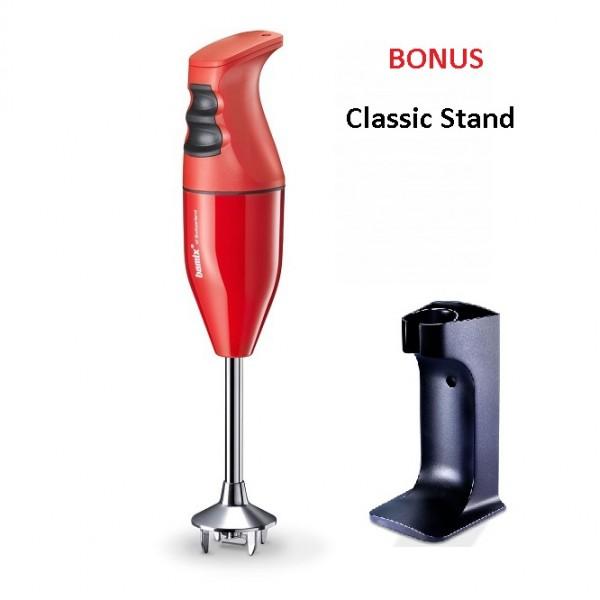 Bamix Classic Immersion Blender 140W Red + Bonus Stand