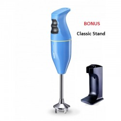 Bamix Classic Immersion Blender 140W Aqua + Bonus Stand