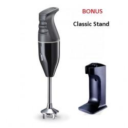 Bamix Classic Immersion Blender 140W Black + Bonus Stand