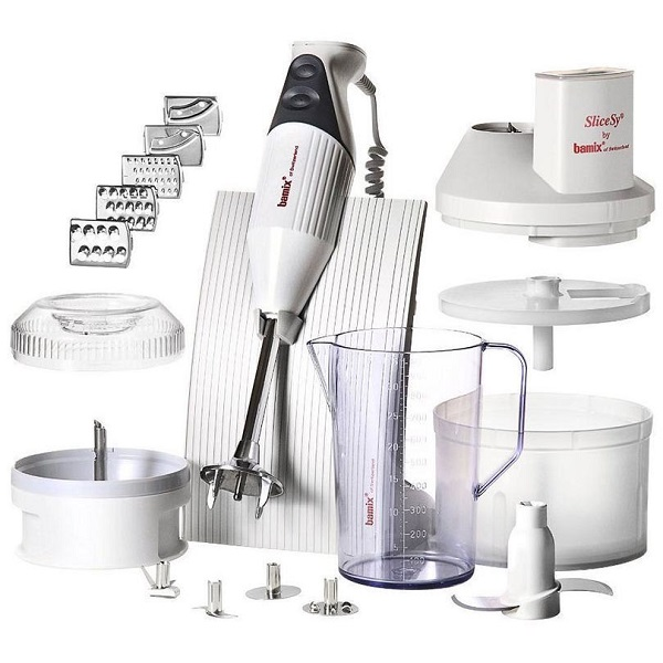 Bamix Swissline SuperBox Immersion Blender All-In-One 200W Light Grey