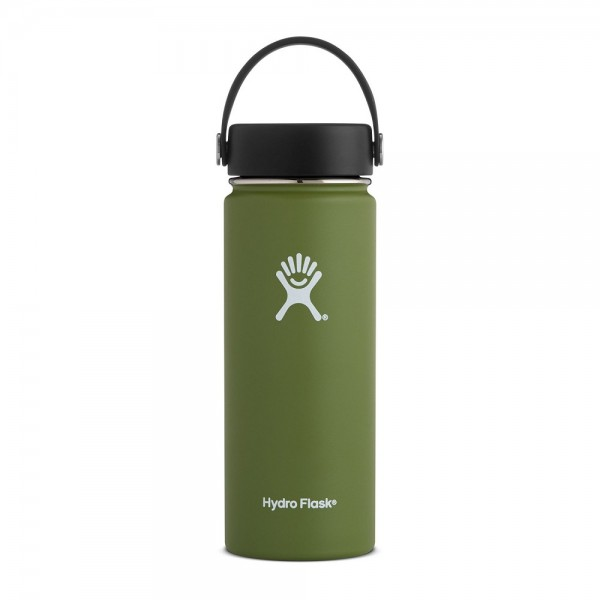 Hydro Flask Wide Mouth Bottle 523ml (18oz) Olive